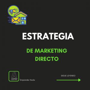 estrategia de marketing directo