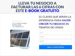 lead page ejemplo